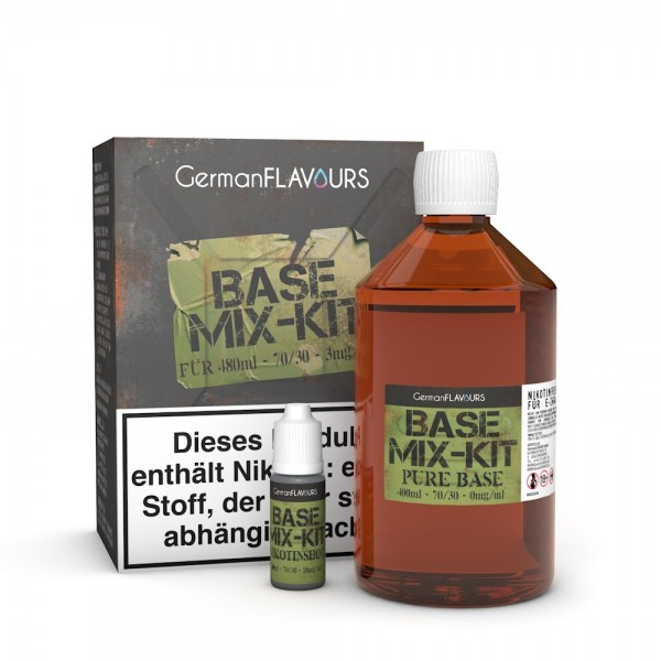 Mix Kit 70/30 für 480ml Base mit 3mg Nikotin