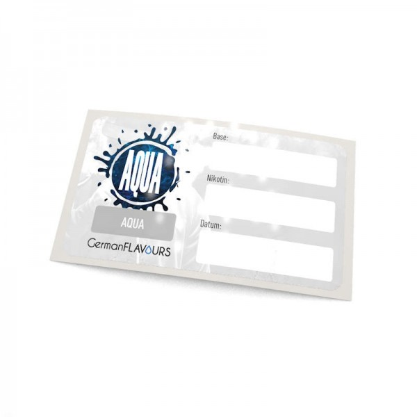 Aqua Selbstmischer-Etikett für Leerflaschen