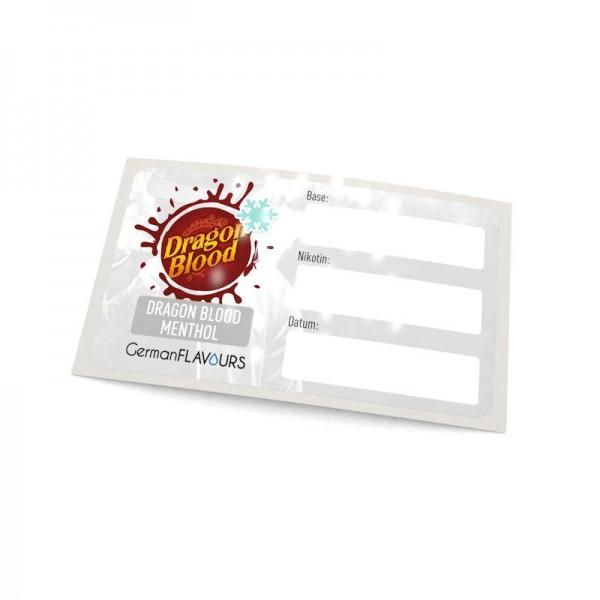 Dragon Blood Menthol Selbstmischer-Etikett