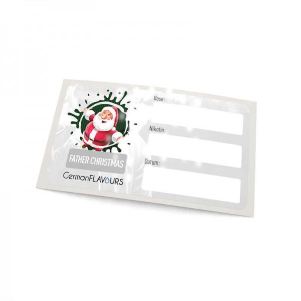 Father Christmas Selbstmischer-Etikett für Leerflaschen