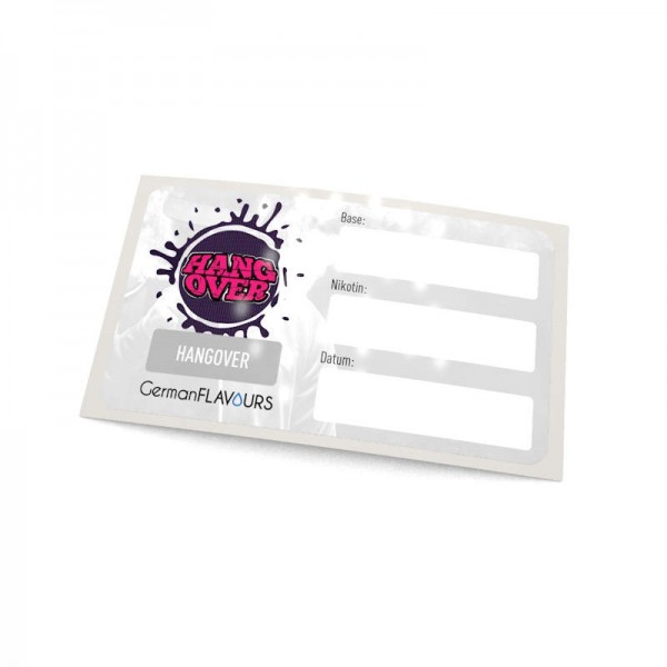 Hangover Selbstmischer-Etikett für Leerflaschen