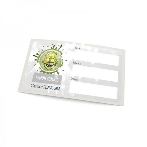 Lemon Zombie Selbstmischer-Etikett für Leerflaschen
