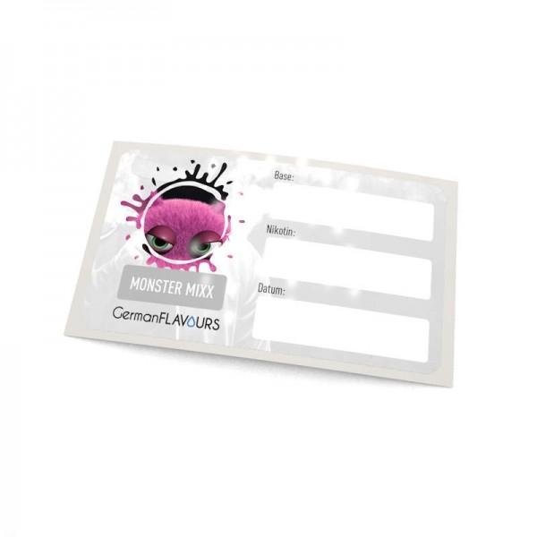 Monster Mixxx Selbstmischer-Etikett für Leerflaschen