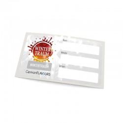 Wintertraum Selbstmischer-Etikett für Leerflaschen