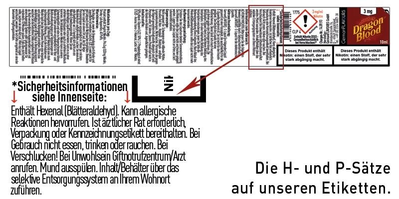 Die H- und P-Sätze auf den GermanFLAVOURS-Etiketten
