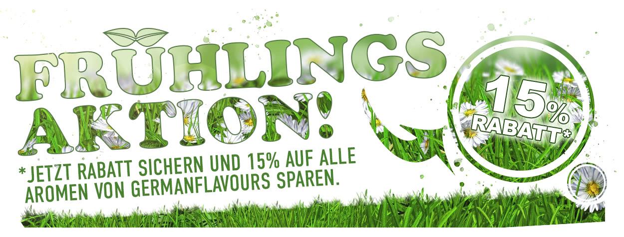 Frühlingsaktion 10% auf Aromen