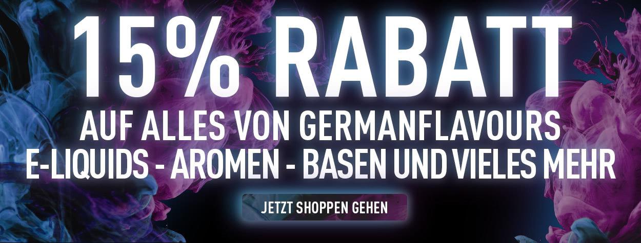 15% Rabatt - GermanFLAVOURS